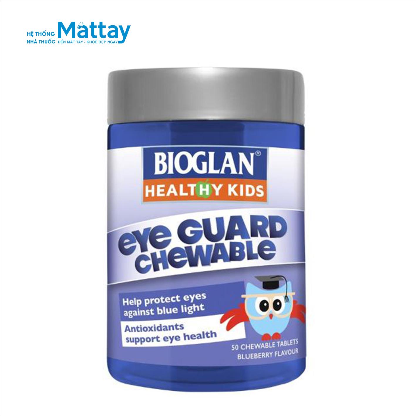 Bioglan Kids Eye Guard Chewable – Viên nhai hỗ trợ cho mắt
