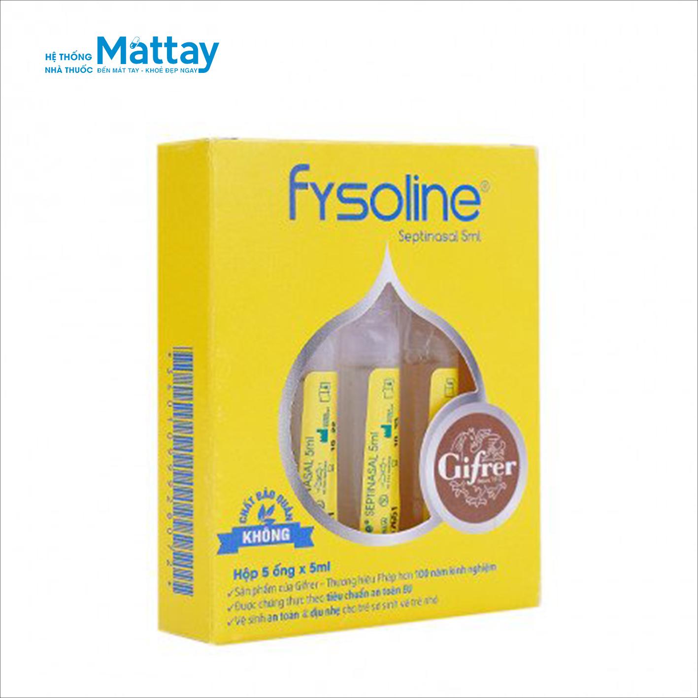 Fysoline – Hộp 5 ống – Dung dịch rửa mũi