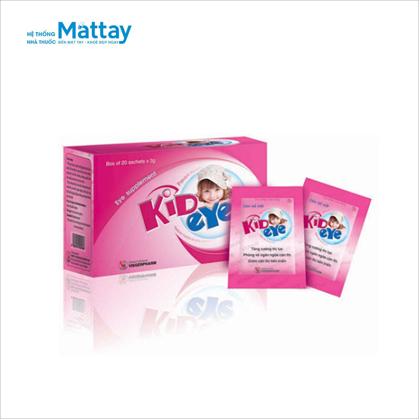 Kideye – Hộp 20 gói – Tăng cường thị lực