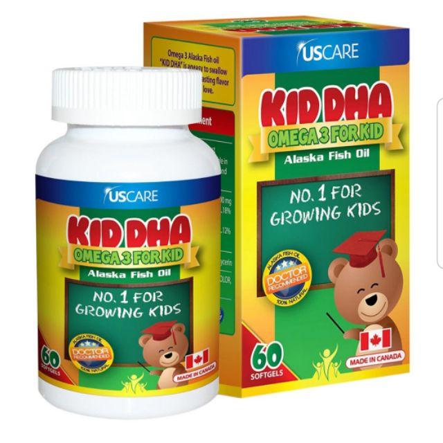 Kid DHA Omega 3 For Kid – Hộp 60 viên – Bổ sung DHA và EPA cho não