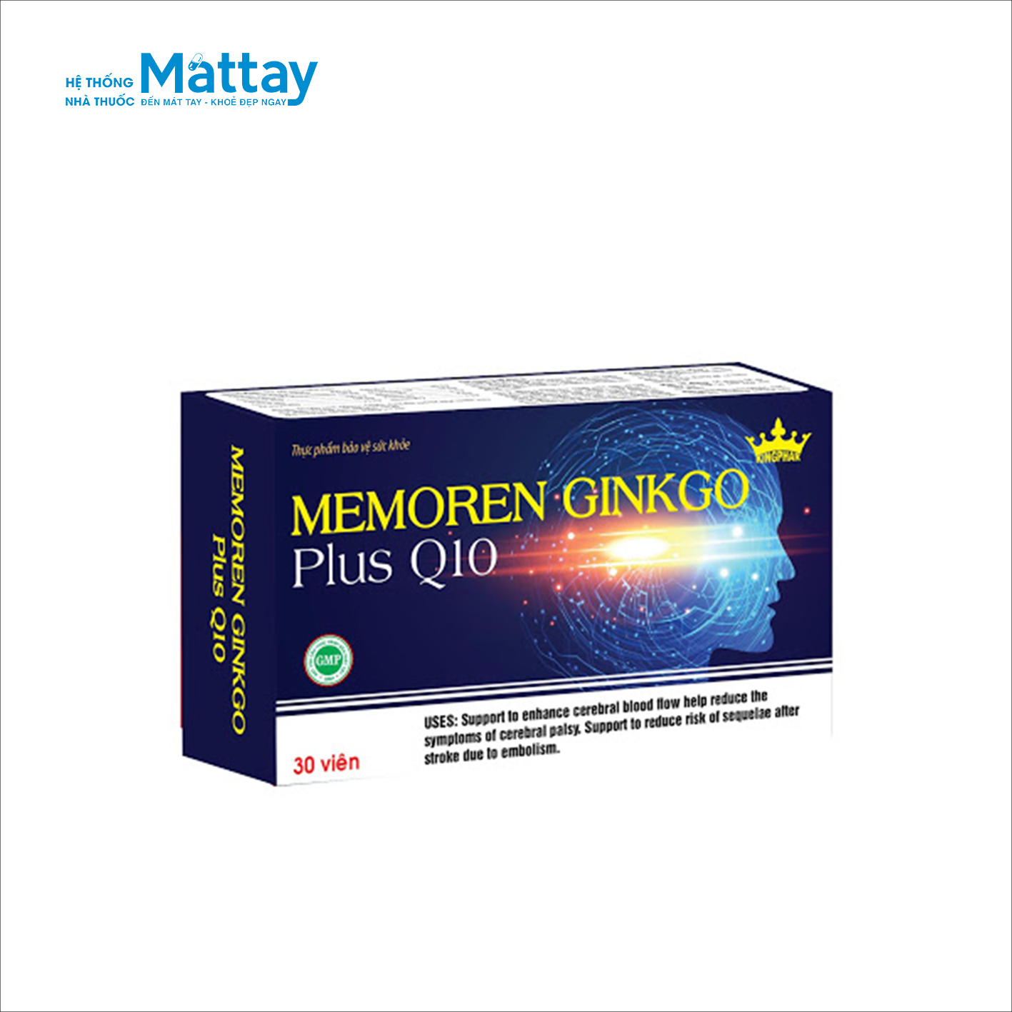Memoren Ginkgo plus Q10 – Giúp tăng cường tuần hoàn máu não